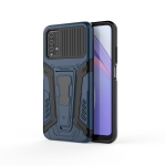 For Xiaomi Redmi Note 9 4G War Chariot Series Armor All-inclusive Shockproof PC + TPU Protective Case with Invisible Holder(Blue)