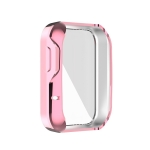 For Xiaomi Mi Watch Lite / Redmi Watch Full Coverage TPU Electroplating Protective Case(Pink)
