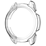 For TicWatch Pro 3 TPU Electroplating Frame Protective Case(Transparent)