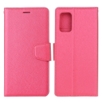 For Samsung Galaxy A71 Silk Texture Horizontal Flip Leather Case with Holder & Card Slots & Wallet & Photo Frame(Rose Red)