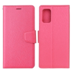 For Samsung Galaxy A72 5G / 4G Silk Texture Horizontal Flip Leather Case with Holder & Card Slots & Wallet & Photo Frame(Rose Red)