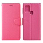 For Samsung Galaxy M31 Silk Texture Horizontal Flip Leather Case with Holder & Card Slots & Wallet & Photo Frame(Rose Red)