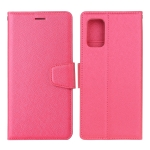 For Samsung Galaxy M51 Silk Texture Horizontal Flip Leather Case with Holder & Card Slots & Wallet & Photo Frame(Rose Red)