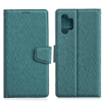 For Samsung Galaxy A32 5G Silk Texture Horizontal Flip Leather Case with Holder & Card Slots & Wallet & Photo Frame(Green)