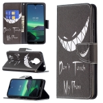 For Nokia 1.4 Colored Drawing Pattern Horizontal Flip Leather Case with Holder & Card Slots & Wallet(Smirk)