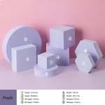 8 in 1 Different Sizes Geometric Cube Solid Color Photography Photo Background Table Shooting Foam Props(Purple)