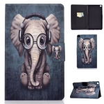 For Samsung Galaxy Tab A7 Lite 8.7 (2021) T220 / T225 Voltage Texture Colored Drawing Horizontal Flip Leather Case, with Holder & Card Slots(Elephant)