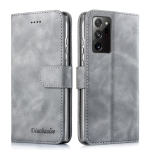 For Samsung Galaxy A52 5G / 4G Diaobaolee Pure Fresh Texture Horizontal Flip Leather Case with Holder & Card Slot & Wallet & Photo Frame(Grey)
