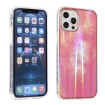 Aurora Cloud Plating Gold Edge Double-Side IMD Pattern TPU Shockproof Case For iPhone 12 Pro Max(Pink Orange Sunset)