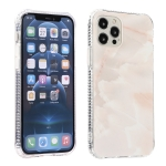 Gold Sands Marble Pattern Dual-side IMD Pattern Acrylic + TPU Shockproof Case For iPhone 12 / 12 Pro(White)