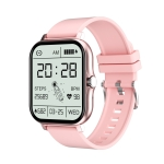 GT20 1.69 inch TFT Screen IP67 Waterproof Smart Watch, Support Music Control / Bluetooth Call / Heart Rate Monitoring / Blood Pressure Monitoring, Style:Silicone Strap(Pink)