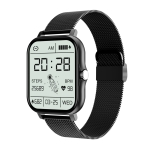 GT20 1.69 inch TFT Screen IP67 Waterproof Smart Watch, Support Music Control / Bluetooth Call / Heart Rate Monitoring / Blood Pressure Monitoring, Style:Steel Strap(Black)