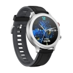 MT18 1.28 inch HD Color Screen IP67 Waterproof Smart Watch, Support Women Physical Health Management / Bluetooth Call / Heart Rate Monitoring, Style: Silicone Strap(Black Silver)