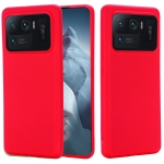 For Xiaomi Mi 11 Ultra Solid Color Liquid Silicone Dropproof Full Coverage Protective Case(Red)