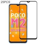 For Xiaomi Poco M2 Reloaded 25 PCS Full Glue Full Screen Tempered Glass Film