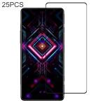 For Xiaomi Redmi K40 Gaming 25 PCS Full Glue Full Screen Tempered Glass Film
