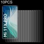 For Xiaomi Mi 11X Pro 10 PCS 0.26mm 9H 2.5D Tempered Glass Film