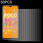 For Xiaomi Poco M2 Reloaded 50 PCS 0.26mm 9H 2.5D Tempered Glass Film