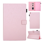 Hair Silky Texture Solid Color Horizontal Flip Leather Case with Holder & Card Slots & Photo Frame & Anti-Skid Strip For Amazon Kindle Fire HD10 2015 / 2017 / 2019(Rose Gold)