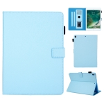 Hair Silky Texture Solid Color Horizontal Flip Leather Case with Holder & Card Slots & Photo Frame & Anti-Skid Strip For iPad Pro 10.5 inch (2017) / (2019)(Blue)