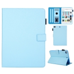 Hair Silky Texture Solid Color Horizontal Flip Leather Case with Holder & Card Slots & Photo Frame & Anti-Skid Strip For iPad Mini 5 / 4 / 3 / 2 / 1(Blue)
