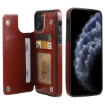 FLOVEME Crazy Horse Texture Horizontal Flip Leather Protective Case with Card Slots & Holder For iPhone 11 Pro Max(Brown)