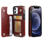 FLOVEME Crazy Horse Texture Horizontal Flip Leather Protective Case with Card Slots & Holder For iPhone 12 mini(Brown)