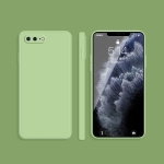 Solid Color Imitation Liquid Silicone Straight Edge Dropproof Full Coverage Protective Case For iPhone 8 Plus / 7 Plus(Matcha Green)