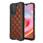 For Samsung Galaxy A32 4G 3D Embossed PU + PC + TPU Skidproof Shockproof Case(Brown)