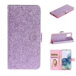 For Xiaomi Redmi Note 10 Pro Glitter Powder Horizontal Flip Leather Case with Card Slots & Holder & Photo Frame & Wallet(Purple)