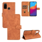 For Ulefone Note 10 Solid Color Skin Feel Magnetic Buckle Horizontal Flip Calf Texture PU Leather Case with Holder & Card Slots & Wallet(Brown)