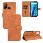 For Oukitel C23 Pro Solid Color Skin Feel Magnetic Buckle Horizontal Flip Calf Texture PU Leather Case with Holder & Card Slots & Wallet(Brown)