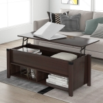 [US Warehouse] Multipurpose Living Room Lifting Top Coffee Table with Drawers, Size: 43.3x18x18.5 inch