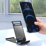 R-JUST HZ05 Sailboat Shape Foldable Metal Phone Stand Tablet PC Desktop Stand(Black)