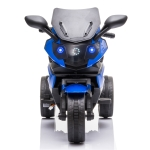 [US Warehouse] LQ-168A 12V 4.5Ah Ride-on Dual Drive Children Electric Motorcycle Toy without Remote Control, with MP3 Player & Radio & LED Light(Blue)