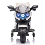 [US Warehouse] LQ-158 6V 4.5Ah Ride-on Single Drive Children Electric Motorcycle Toy without Remote Control, with LED Headlights & Horns & Siren & Music(White)