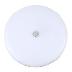 12W 6500K Round Shape Human Body Sensor LED Ceiling Light, AC 220V (White Light)
