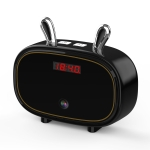F11 Bluetooth Speaker Wireless Camera with Clock Display, Support Night Vision / Motion Detection / TF Card (Black)