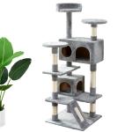 [US Warehouse] Cat Tree Apartment with Sisal Railing & Sisal Rope Scraper
