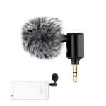 PULUZ P1 3.5mm Jack Mobile Phone Single Directional Adjustable Microphone (Black)