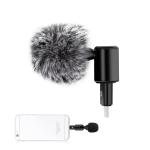 PULUZ P2 8PIN Jack Mobile Phone Omnidirectional Condenser Adjustable Microphone(Black)
