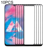 10 PCS Front Screen Outer Glass Lens for Samsung Galaxy A40s (Black)