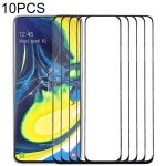 10 PCS Front Screen Outer Glass Lens for Samsung Galaxy A90 / A80 (Black)