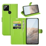 For Google Pixel 5A 5G Litchi Texture Horizontal Flip Protective Case with Holder & Card Slots & Wallet(Green)