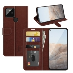 For Google Pixel 5A 5G R64 Texture Single Horizontal Flip Protective Case with Holder & Card Slots & Wallet& Photo Frame(Brown)