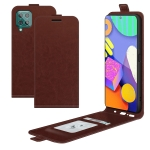 For Samsung Galaxy F62 / M62 R64 Texture Single Vertical Flip Leather Protective Case with Card Slots & Photo Frame(Brown)