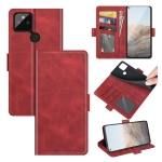 For Google Pixel 5A 5G Dual-side Magnetic Buckle Horizontal Flip Leather Case with Holder & Card Slots & Wallet(Red)