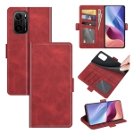 For Xiaomi Redmi K40 Pro / K40 / Poco F3 / Mi 11i Dual-side Magnetic Buckle Horizontal Flip Leather Case with Holder & Card Slots & Wallet(Red)