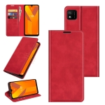 For Wiko Y62 Retro-skin Business Magnetic Suction Leather Case with Holder & Card Slots & Wallet(Red)