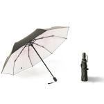 Small Fresh Lightweight Anti-Ultraviolet Sun Umbrella Rain And Sun Umbrella, Style:Tri Fold(Powder)